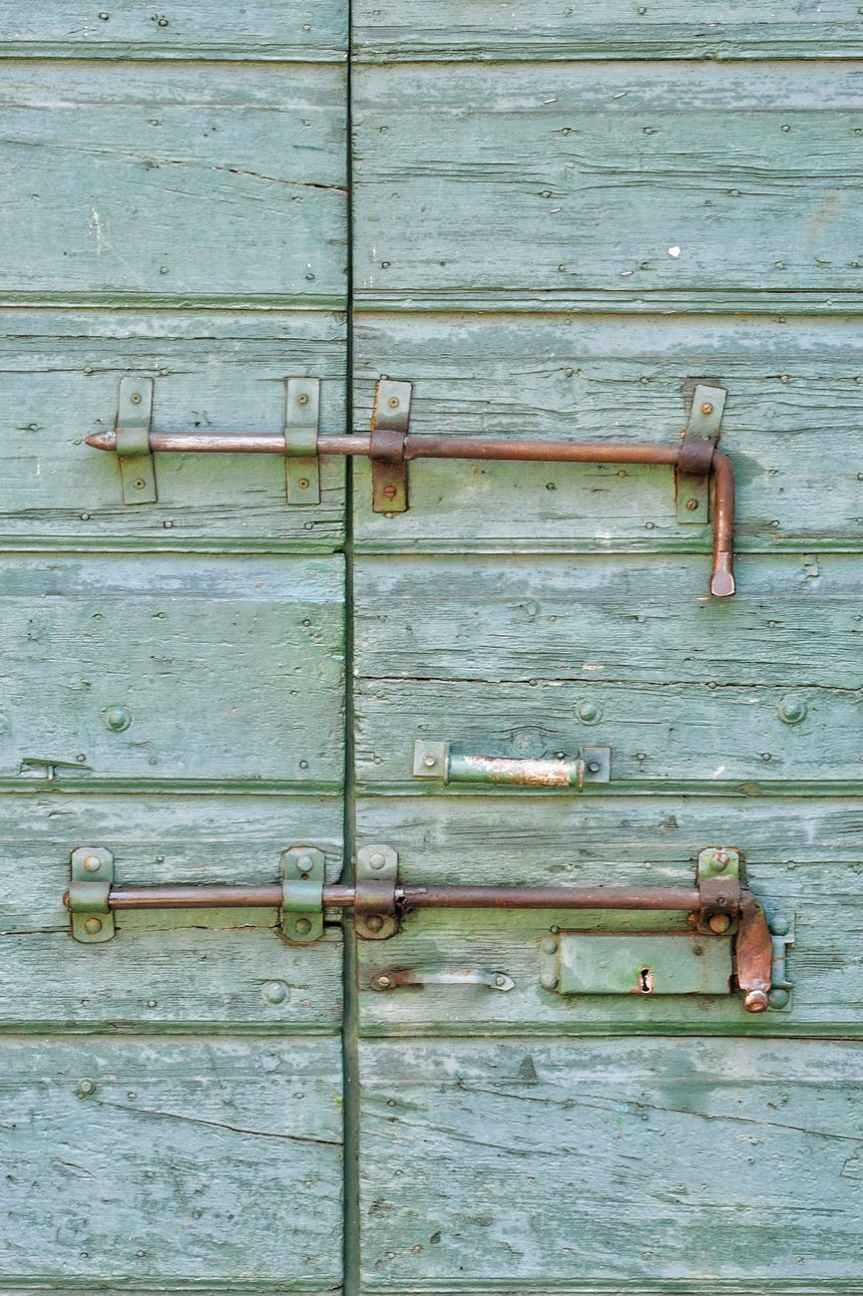 antique bolt dirty door