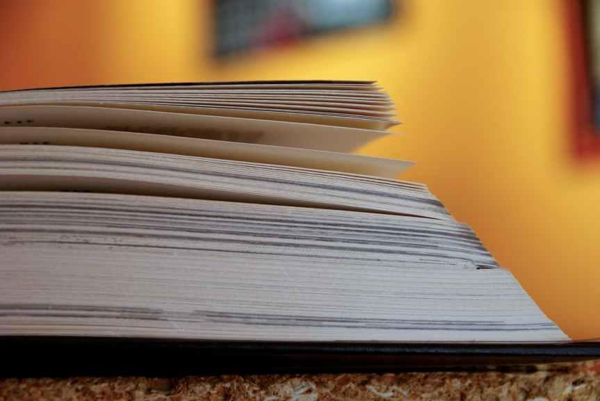 blur book close up college